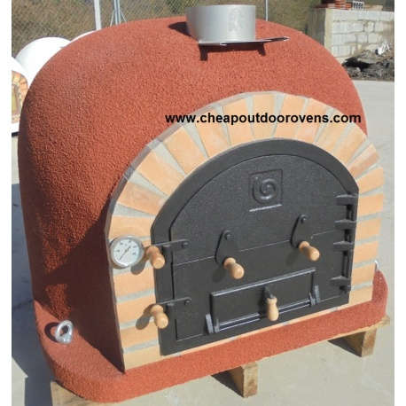 Deluxe clay oven with chimney (100 cm x 100 cm)