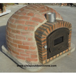 Rustic insulated clay oven with chimney (100 cm x 100 cm)