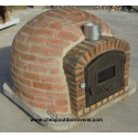 Rustic insulated clay oven with chimney (110 cm x 110 cm)