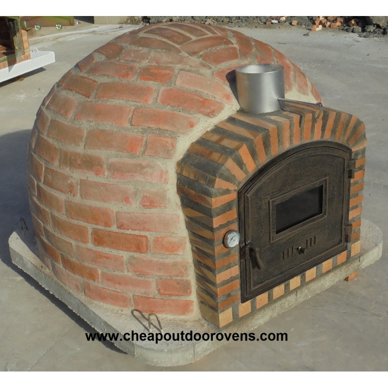 Rustic Insulated Clay Oven With Chimney 100 Cm X 100 Cm