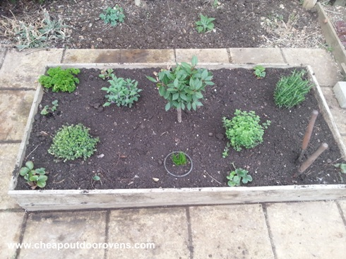 herb garden raised bed